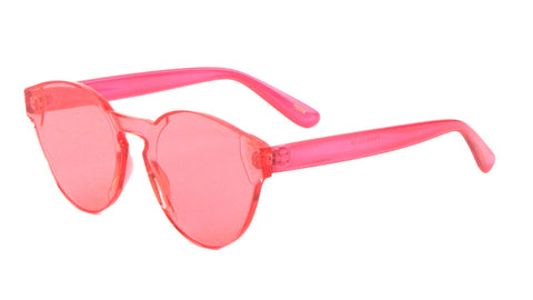 P6400-CO - Rimless Solid One Piece Color Lens Wholesale Bulk Sunglasses