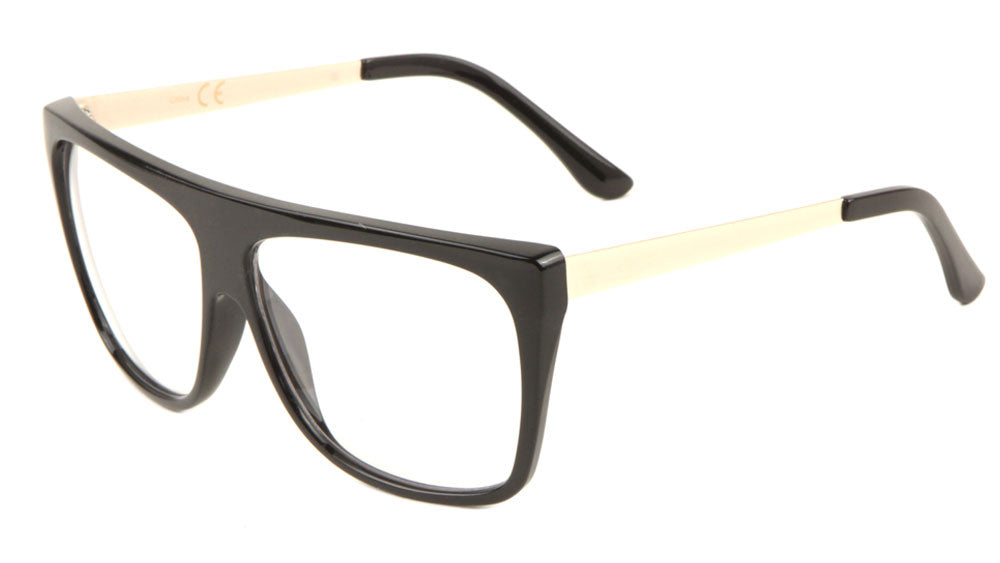 Flat Top Clear Lens Fashion Wholesale Glasses