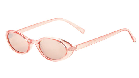P6412-CO - Thin Oval Color Lens Wholesale Bulk Sunglasses