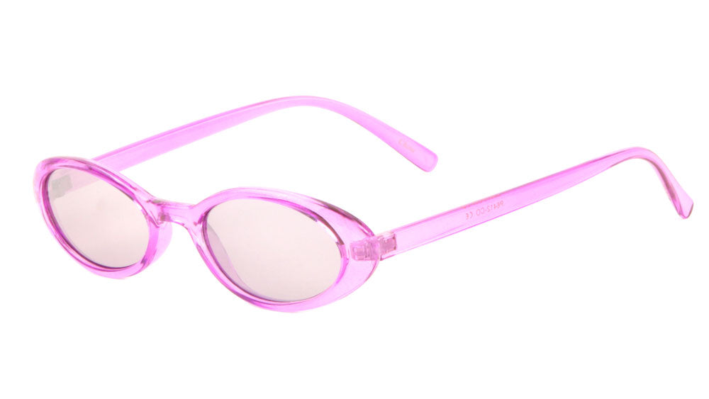 Small Thin Oval Color Lens Wholesale Bulk Sunglasses