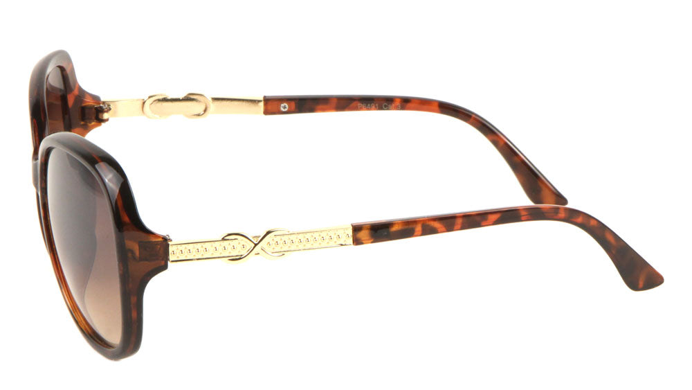 Butterfly Etched Pattern Temple Sunglasses Wholesale