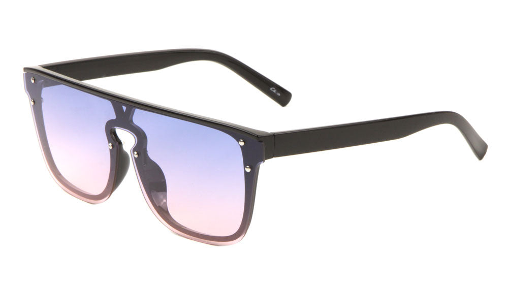 Wholesale Flat Top Shield Sunglasses