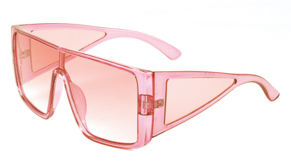 Crystal Color Side Shield One Piece Sunglasses Wholesale