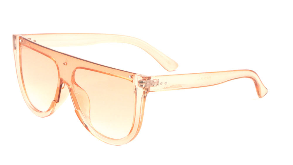 Crystal Color Flat Top Fashion Sunglasses Wholesale