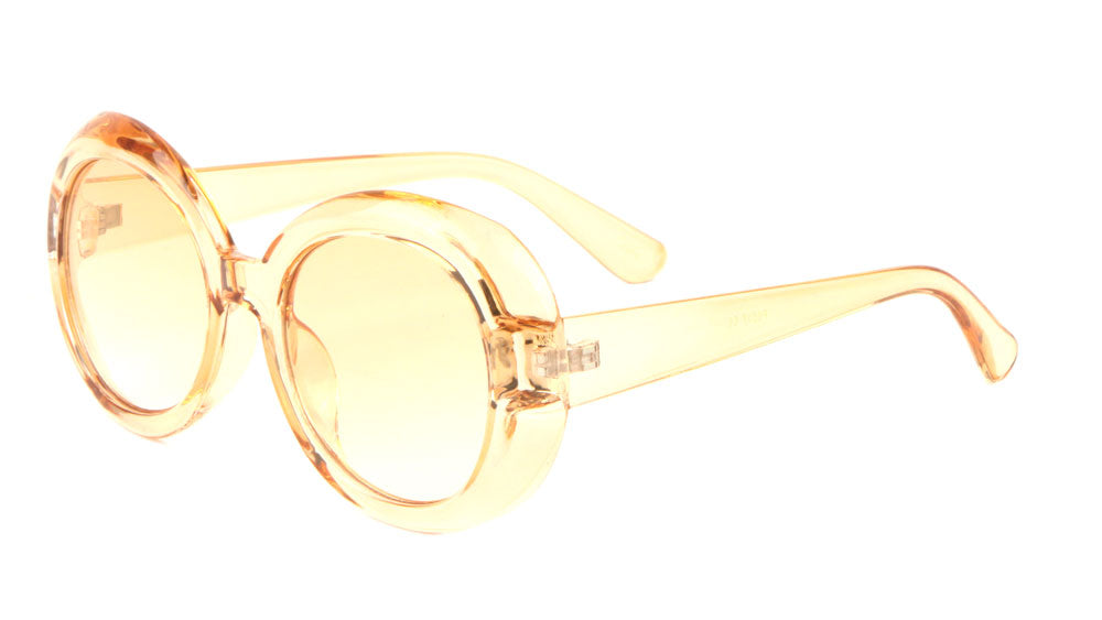 Crystal Color Oval Fashion Sunglasses Wholesale