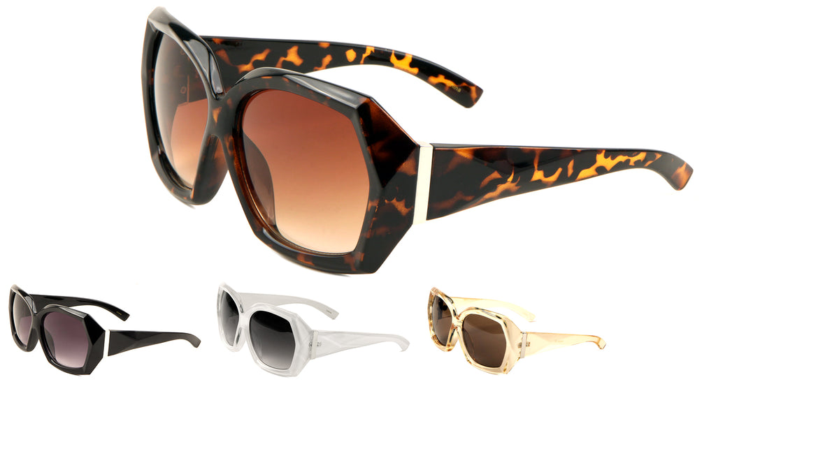 Diamond Cut Butterfly Sunglasses Wholesale