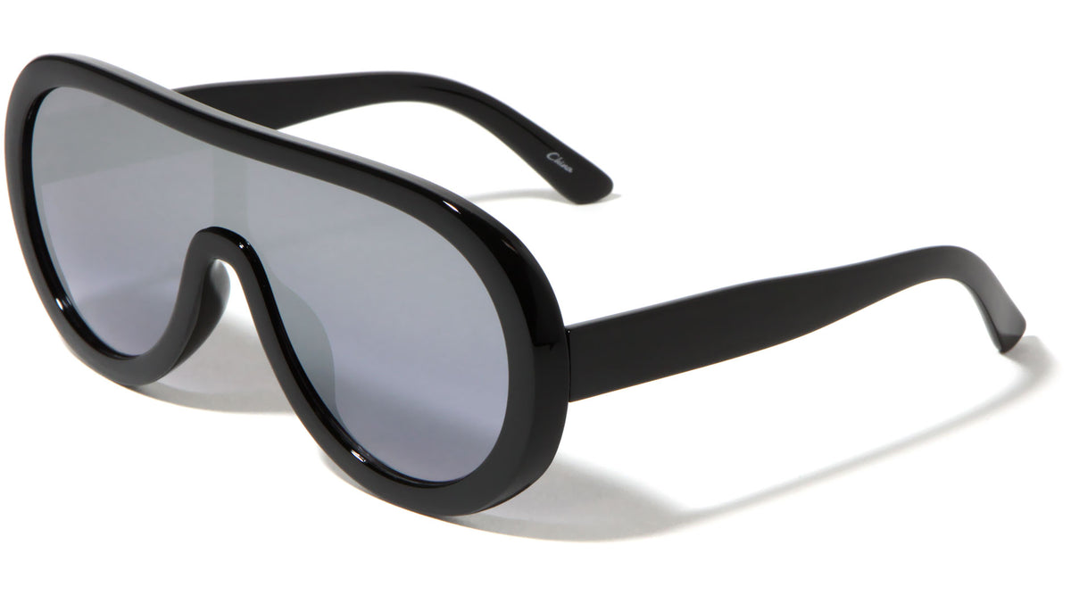 Thick Rim Shield Wholesale Sunglasses