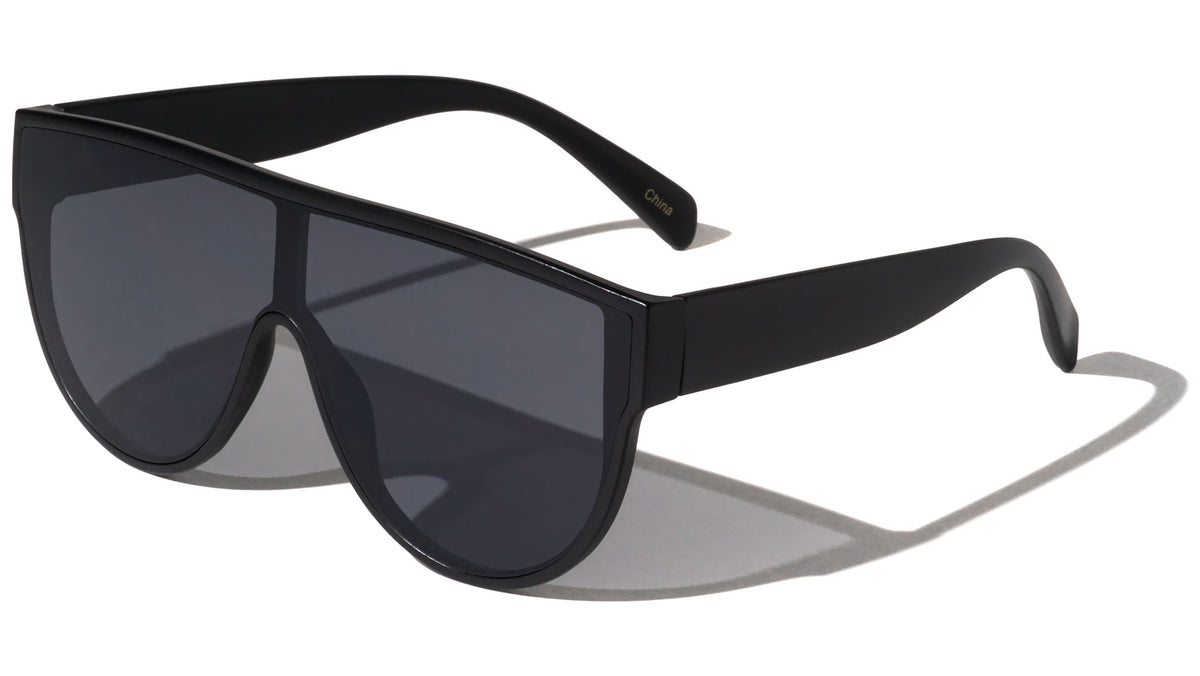 Flat Lens Shield Wholesale Sunglasses