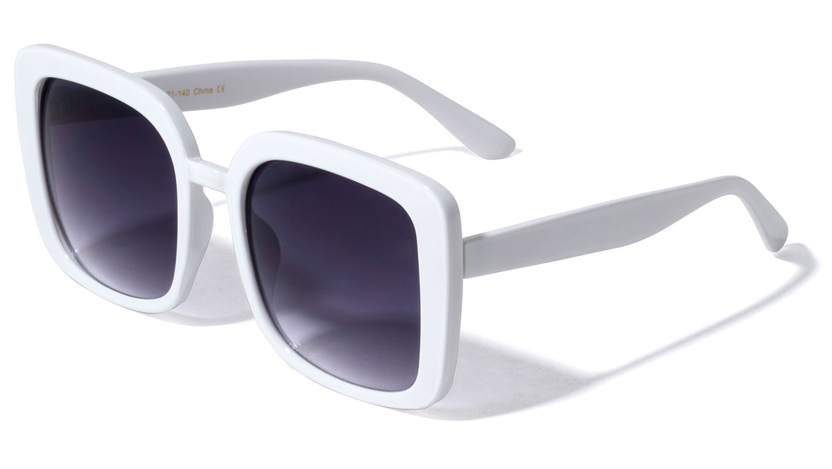 White Squared Butterfly Wholesale Sunglasses