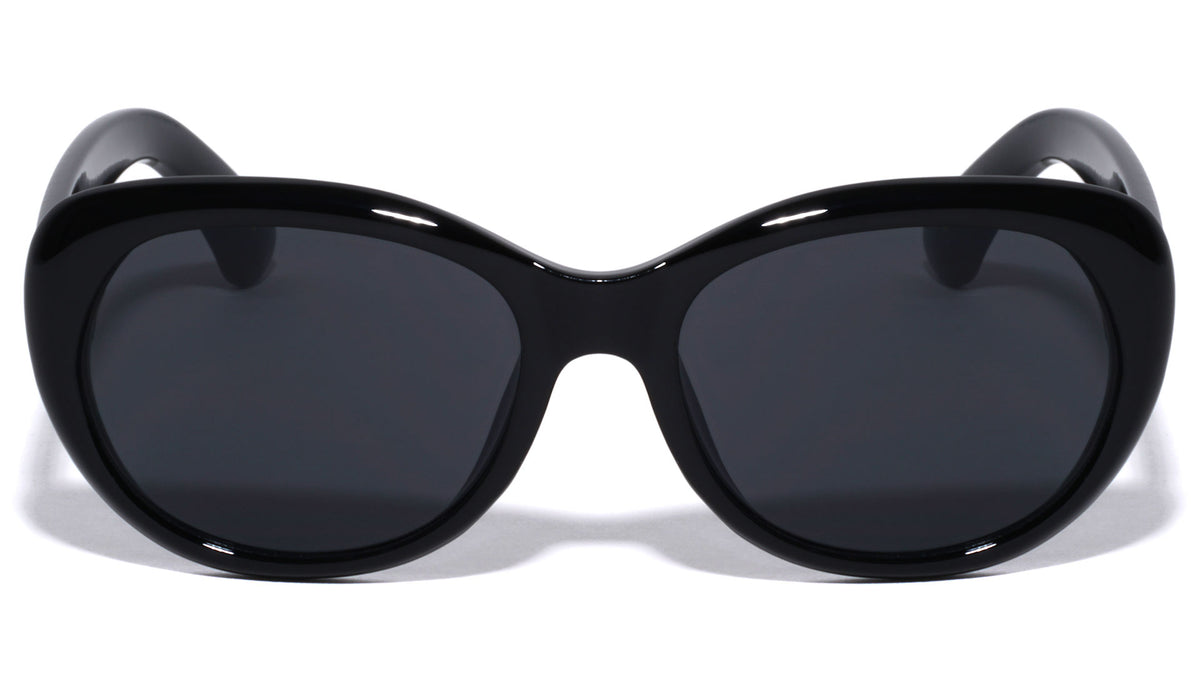 Thick Rim Rounded Cat Eye Wholesale Sunglasses