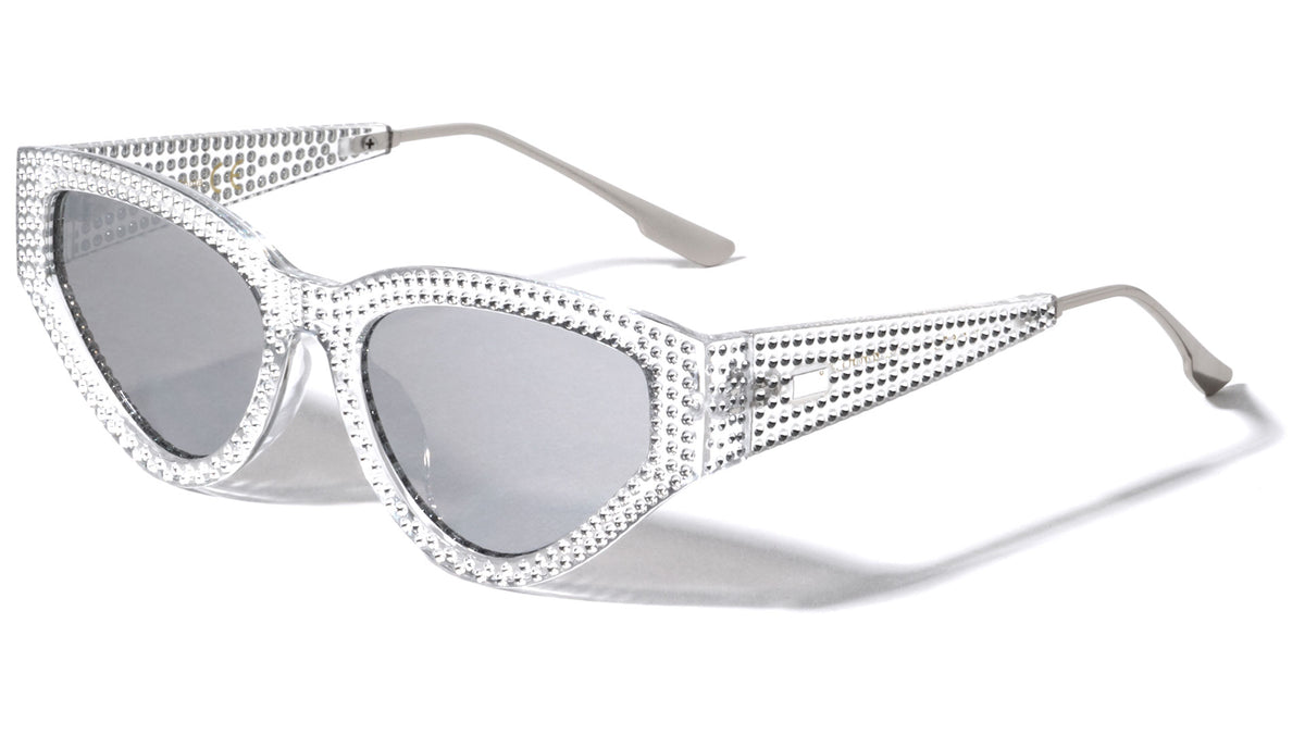 Fake Rhinestone Cat Eye Wholesale Sunglasses