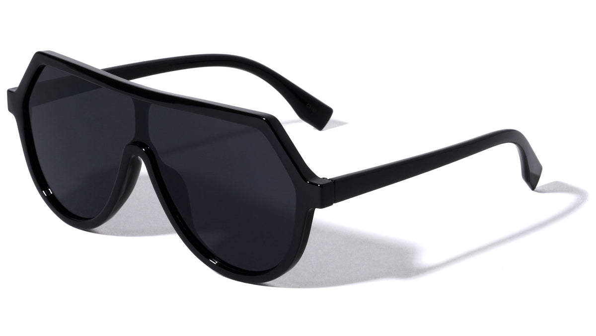 Flat Top Shield Wholesale Sunglasses