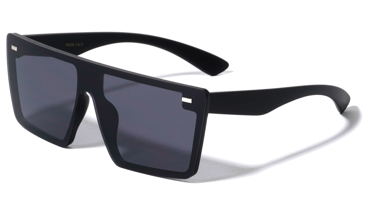 Flat Top Rimless Shield Wholesale Sunglasses