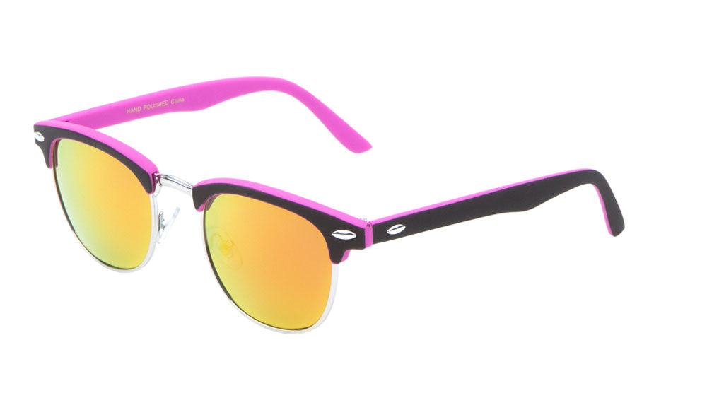 Combination Soft Coat Color Mirror Neon Sunglasses
