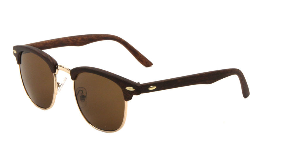 Combination Wood Pattern Wholesale Bulk Sunglasses