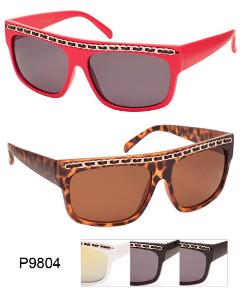 Flat Top Chain Brow Classic Wholesale Bulk Sunglasses