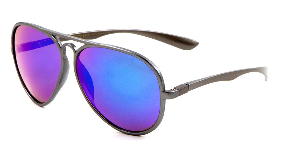 Plastic Color Mirror Aviator Wholesale Bulk Sunglasses