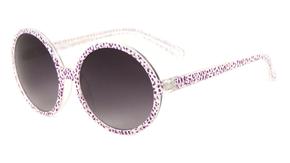Crystal Round Animal Pattern Wholesale Bulk Sunglasses