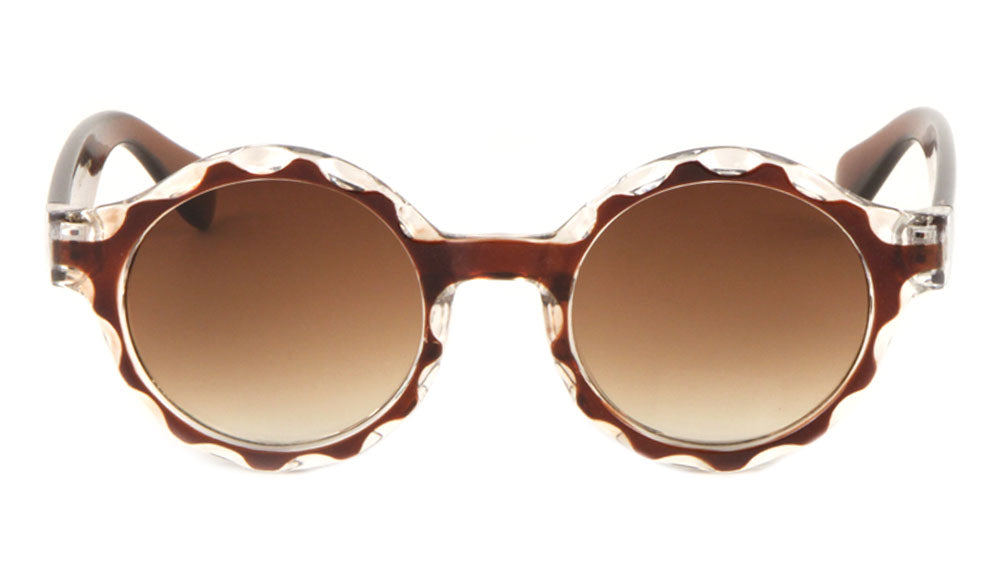 Crystal Round Retro Wholesale Bulk Sunglasses
