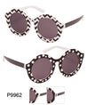 Round Dot & Stripe Pattern Wholesale Bulk Sunglasses