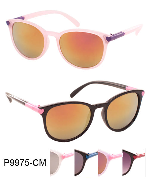 Retro Color Mirror Lens Wholesale Bulk Sunglasses