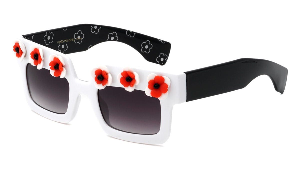 Squared Flower Wholesale Sunglasses