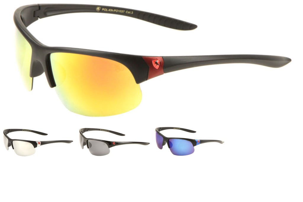 KHAN Wholesale Polarized Semi-Rimless Sports Sunglasses