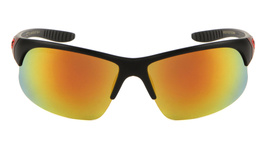 ef40001994 KHAN Polarized Semi-Rimless Sports Sunglasses Wholesale