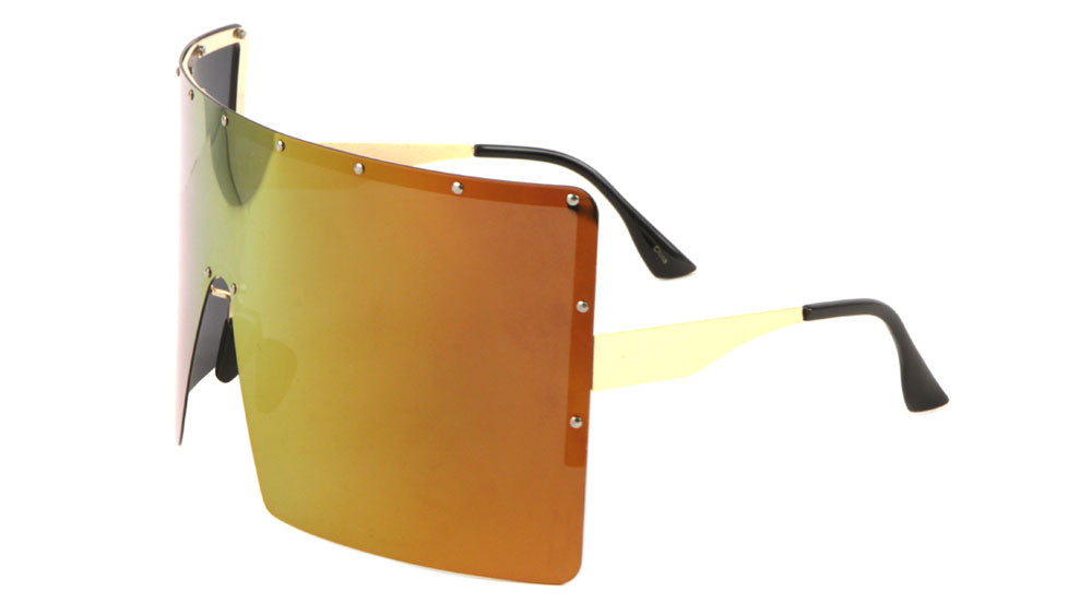 Polarized Rimless Squared Color Mirror One Piece Lens