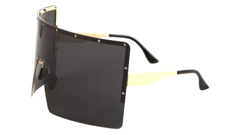 POL-M10588-CM - Polarized Rimless Squared Color Mirror One Piece Lens