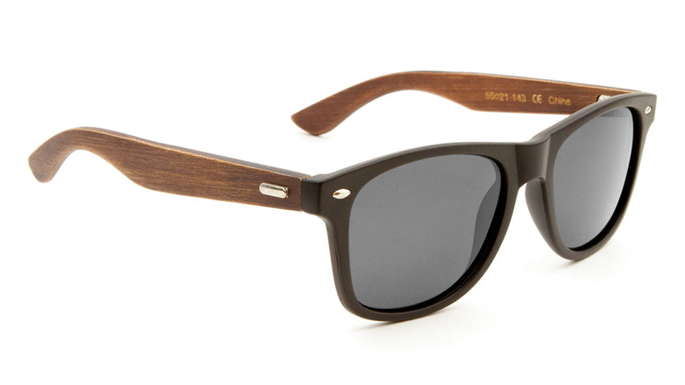 EKO Polarized Classic Wood Sunglasses Wholesale