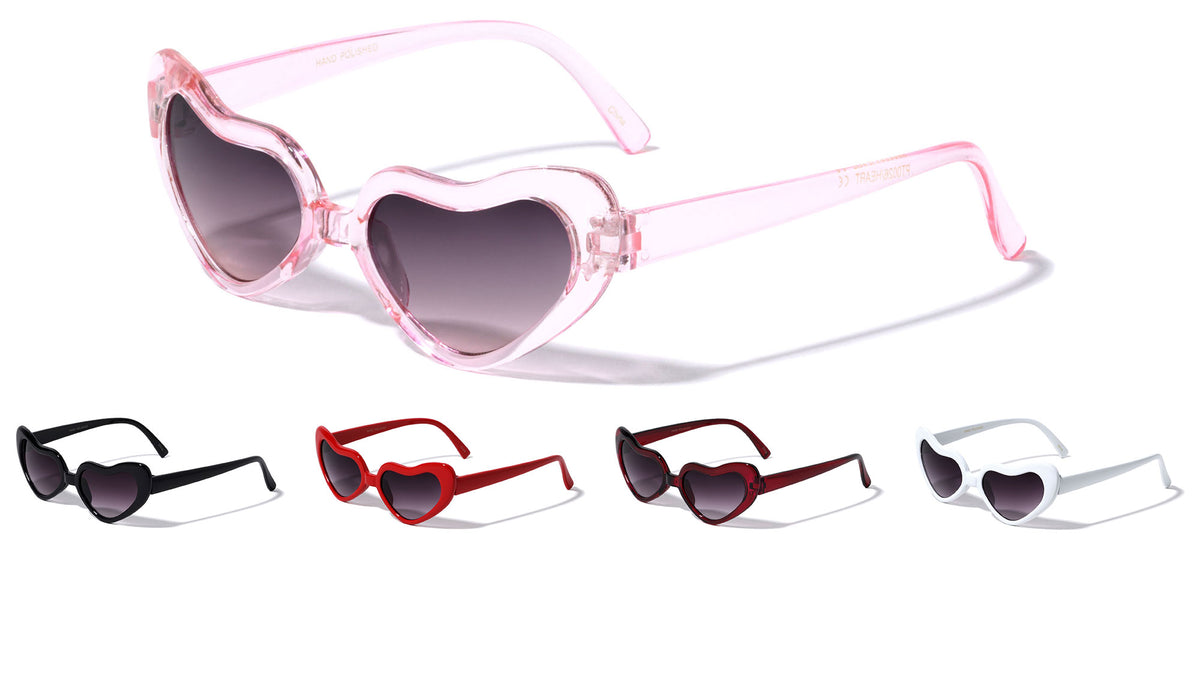 Heart Plastic Party Glasses