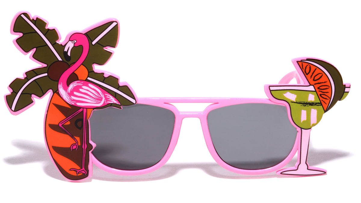 Tropical Vacation Theme Party Glasses