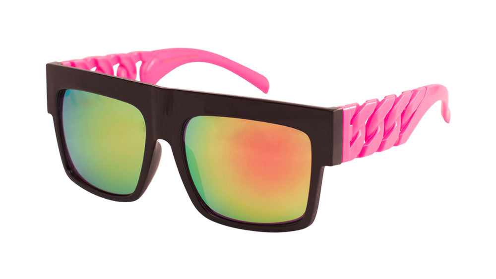 Party Chains Color Mirror Sunglasses