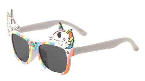PT0285 - Classic Rainbow Unicorn Bulk Wholesale Sunglasses
