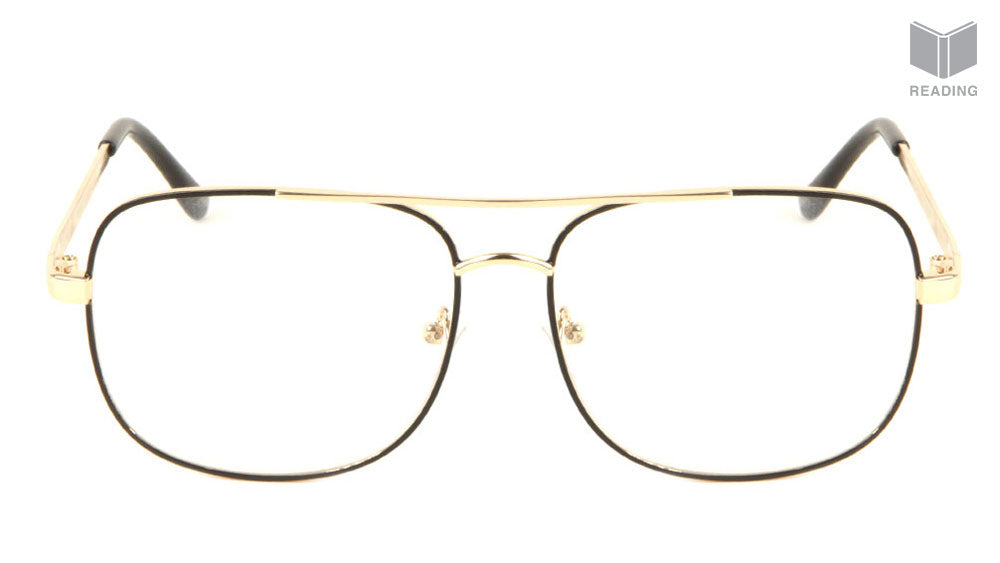 Squared Aviators Wholesale Bulk Reading Glasses