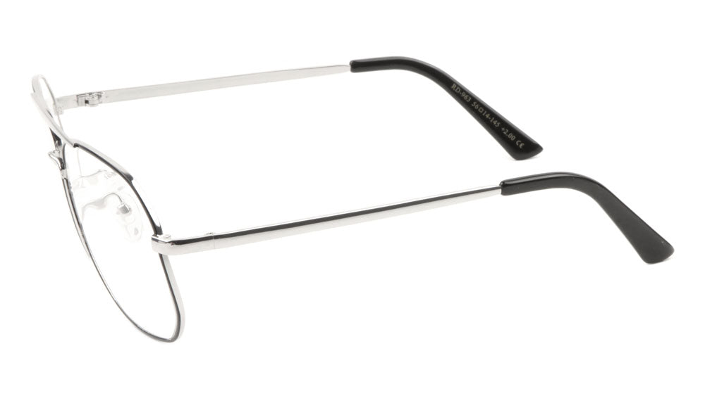 Squared Aviators Curved Nose Wholesale Bulk Reading Glasses