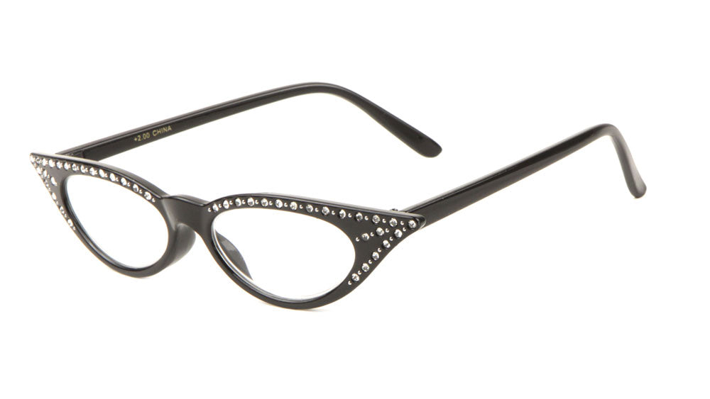 1befb40a9a1 Small Reading Rhinestone Cat Eye Glasses Wholesale. Small Reading  Rhinestone Cat Eye Glasses Wholesale