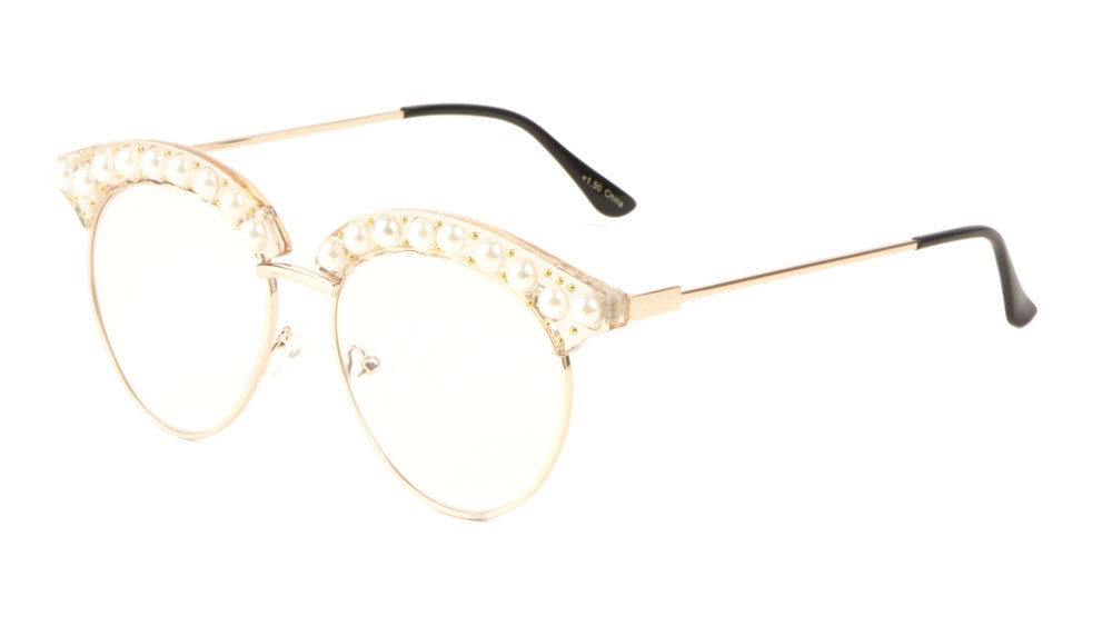 Reading Rhinestone Retro Brow Glasses Wholesale