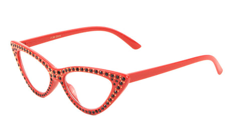 RD-RH-3214 - Reading Rhinestoned Cat Eye Wholesale Glasses