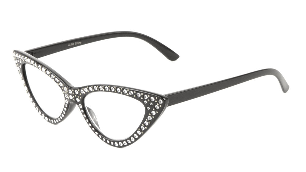 Reading Rhinestone Cat Eye Wholesale Glasses