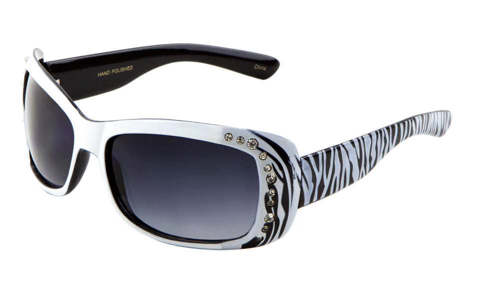 Rhinestone Zebra Pattern Wholesale Bulk Sunglasses
