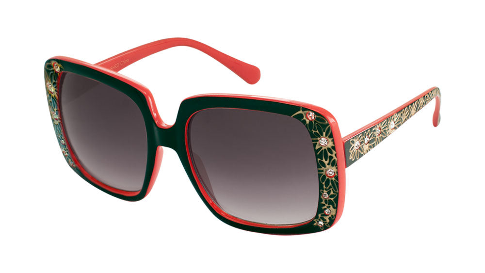 Rhinestone Flower Butterfly Wholesale Bulk Sunglasses