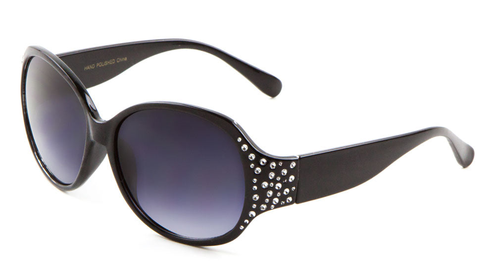 Rhinestone Oval Wholesale Bulk Sunglasses