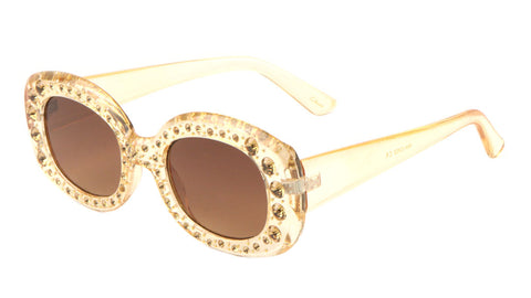 Rhinestone Oval Fashion Sunglasses Wholesale