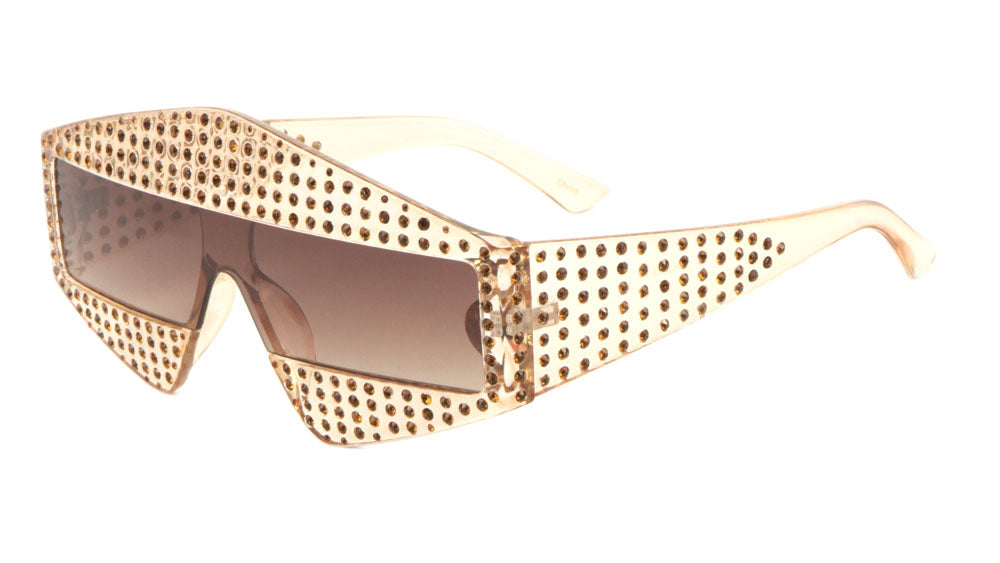 Rectangle Diamond Rhinestone Wholesale Sunglasses