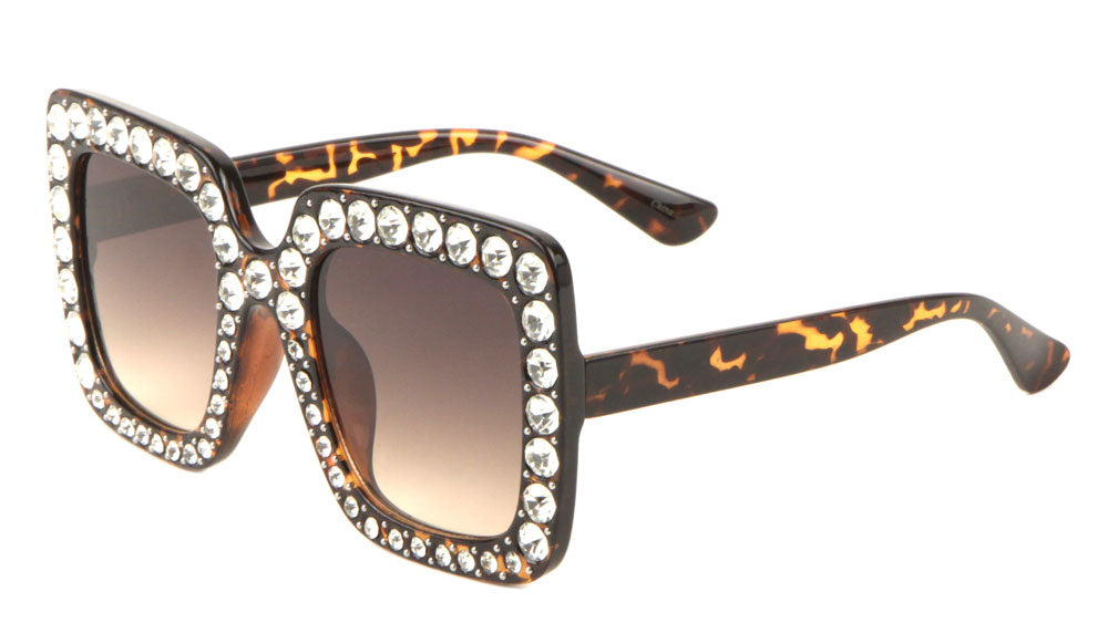 Rhinestoned Butterfly Bulk Wholesale Sunglasses