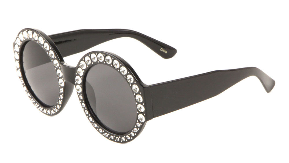 Rhinestone Round Fashion Sunglasses Wholesale