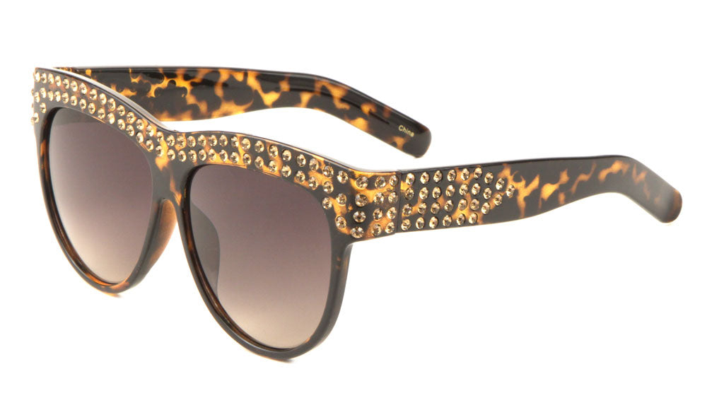 Top Bar Rhinestone Fashion Sunglasses Wholesale
