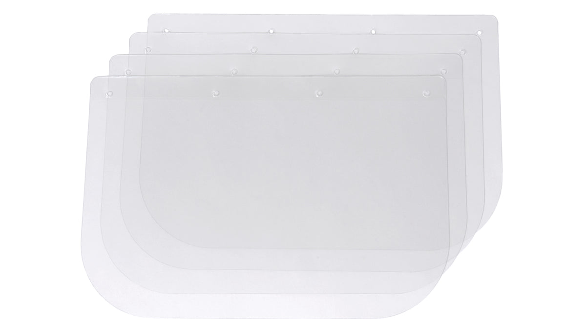Safety Adjustable Face Shield - White